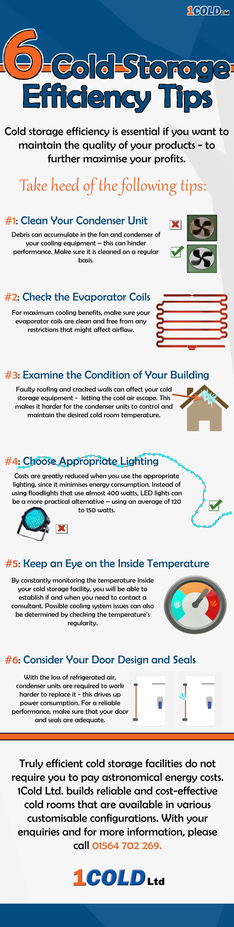 Cold Storage Efficiency Tips Infographic